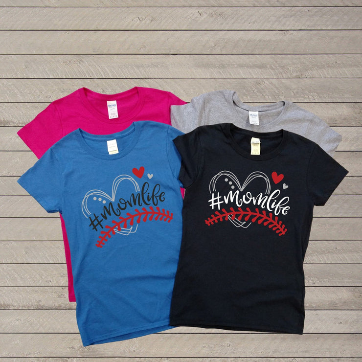 Raglan Baseball #MOMLIFE Shirt  - Mother Apparel - Everyday Wear - Mother's Day Shirt