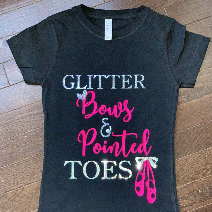 Glitter Bows and Pointed Toes