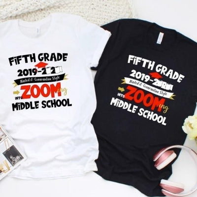 5th Grade Zooming into Middle School In Quarantine Style T-Shirt