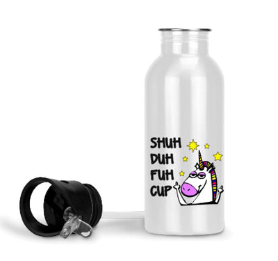 Shuh Duh Fuh Cup Unicorn Water Bottle and Mugs