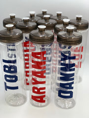 Water Bottle - Personalized Clear a pull Top