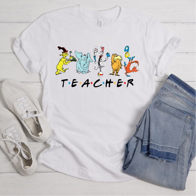 DR. SEUSS TEACHER SHIRT - FRIENDS INSPIRED DOCTOR SEUSS  SHIRT