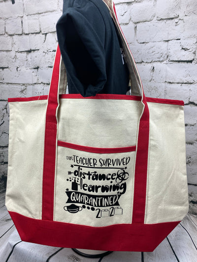 TEACHER CANVAS TOTE BAG - End of Year Quarantine GIft