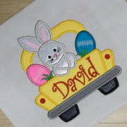 EASTER TRUCK WITH BUNNY AND EGGS SHIRT | KIDS SHIRTS
