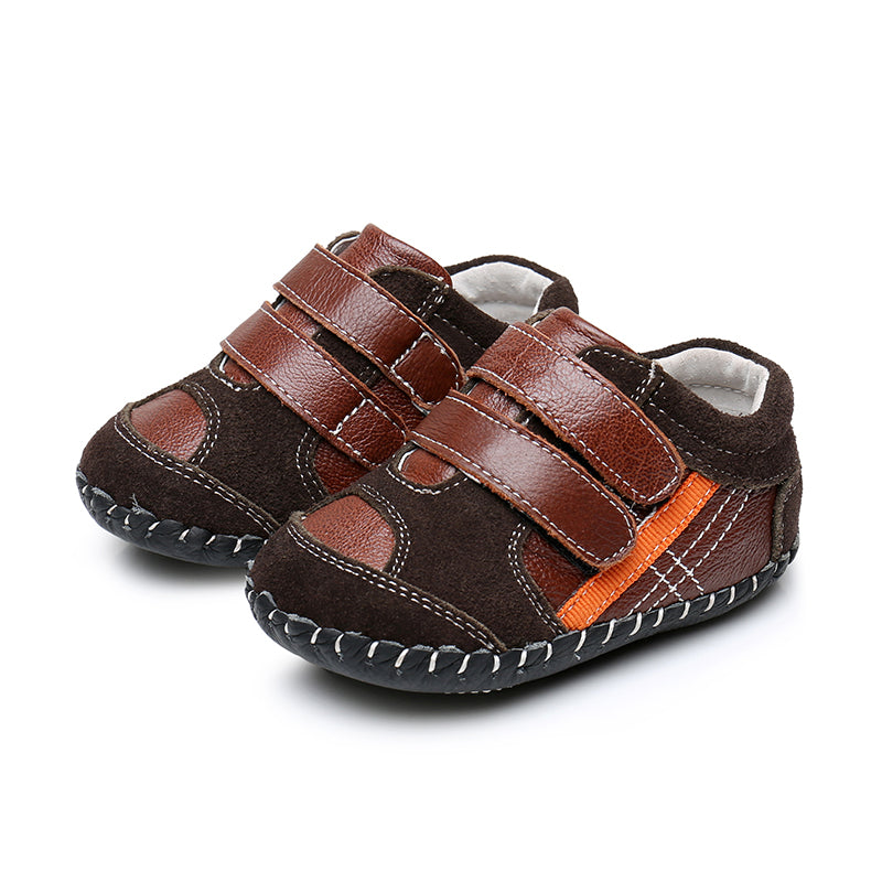 MerryGo Billy Brown Orange Baby Shoes