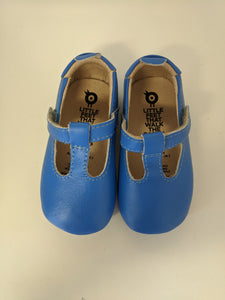 Old Soles Ohme Bub Neon Blue T Bar Baby