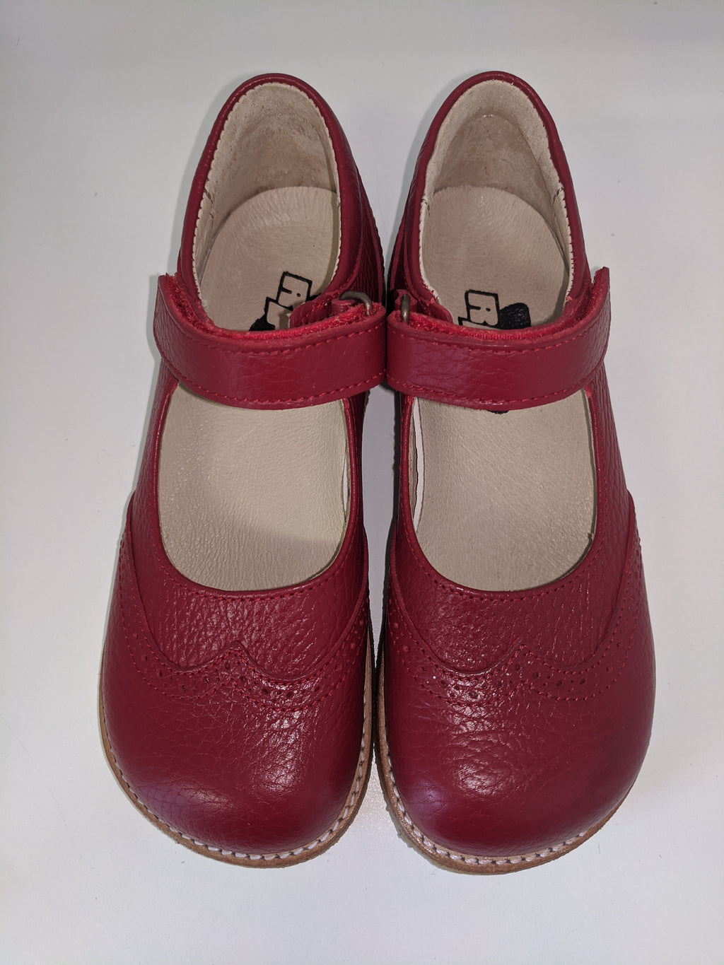 Rap Pauline Red Crepe Sole Shoe