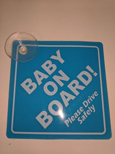 Blue Baby on Board Sign