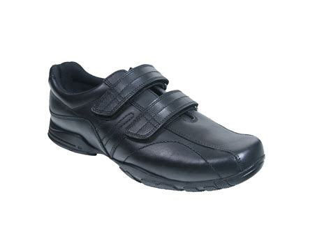 Term Hoddle Black School Shoes