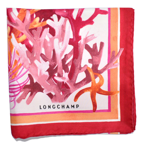 Genuine Lonchamp scarves Coral
