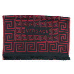 Versace Wool Scarf Red