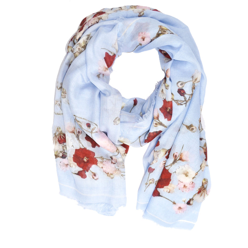 Givenchy Scarf Baby Breath Sky Blue - Cashmere Silk Oversized Wrap FINAL SALE