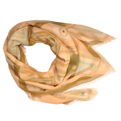 Givenchy Scarf Cream Pink Rosace X Design Women