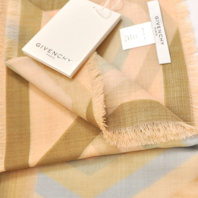 Givenchy Scarf Cream Pink Rosace X Egyptian Eyes - Extra Large Square Wool Scarf SALE