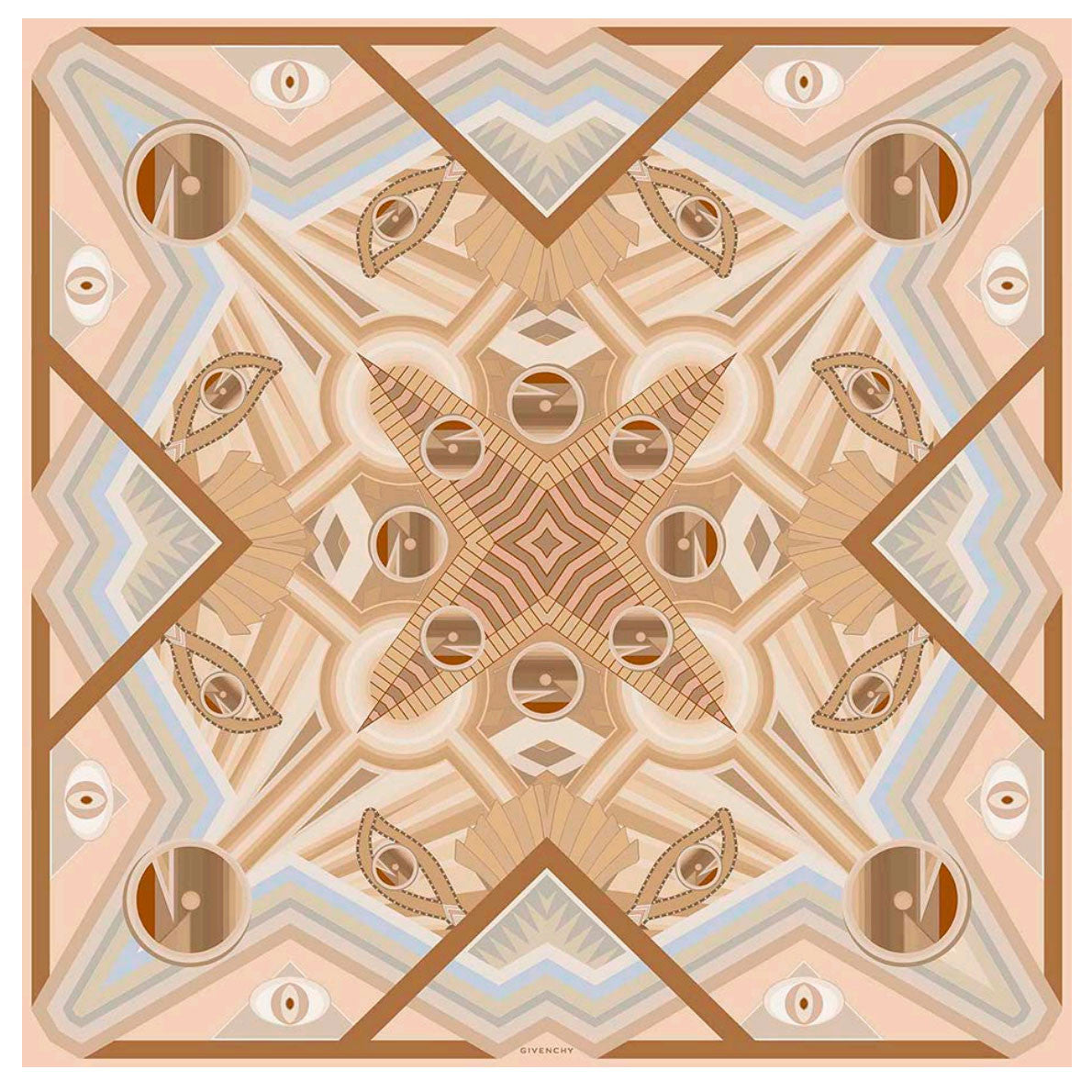 Givenchy Scarf Cream Pink Rosace X