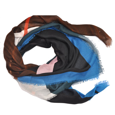 Givenchy Scarf G-ometric Wood - Extra Large Square Cashmere Silk Scarf - FINAL SALE
