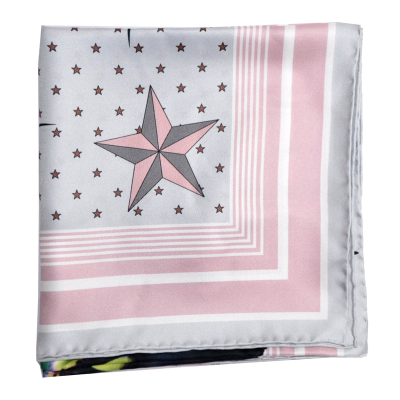 Givenchy Scarf Pink Gray Ultra Paradise Flowers