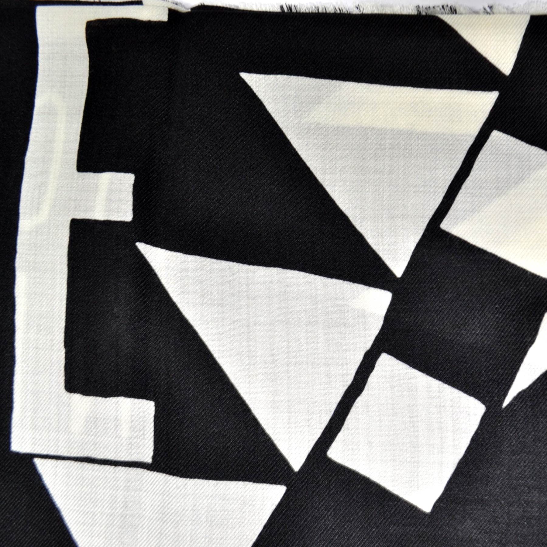 Givenchy Scarf Black White Heart POWER OF LOVE
