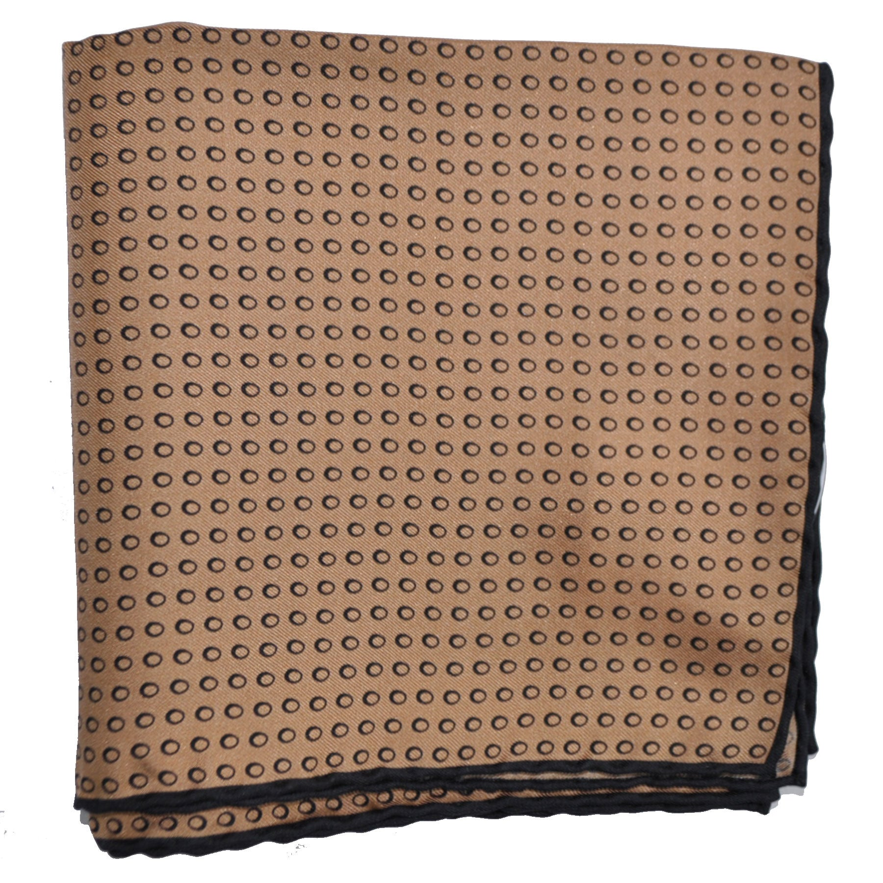 Agnona Scarf Cream Brown Ovals Twill Silk Square Scarf