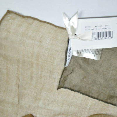 Agnona Scarf Taupe Gray Cashmere & Polyester