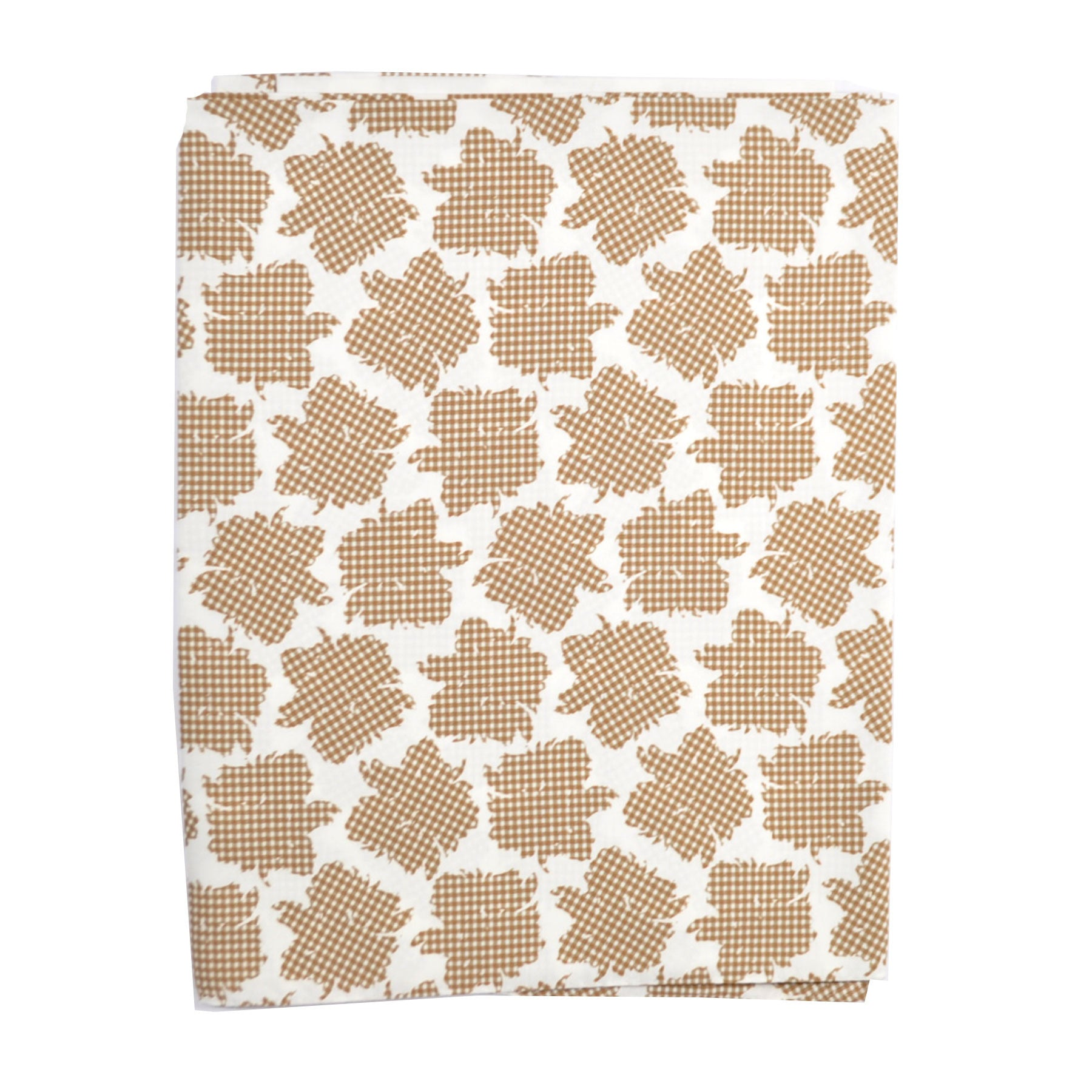 Agnona Scarf White Cream Check Floral Short Shawl - FINAL SALE
