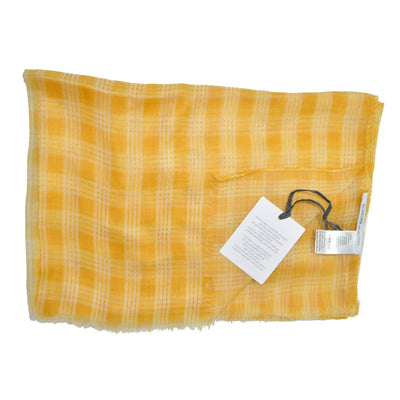 5c0398e365cba Agnona Scarf Orange White Plaid Check Cashmere Shawl FINAL SALE ...