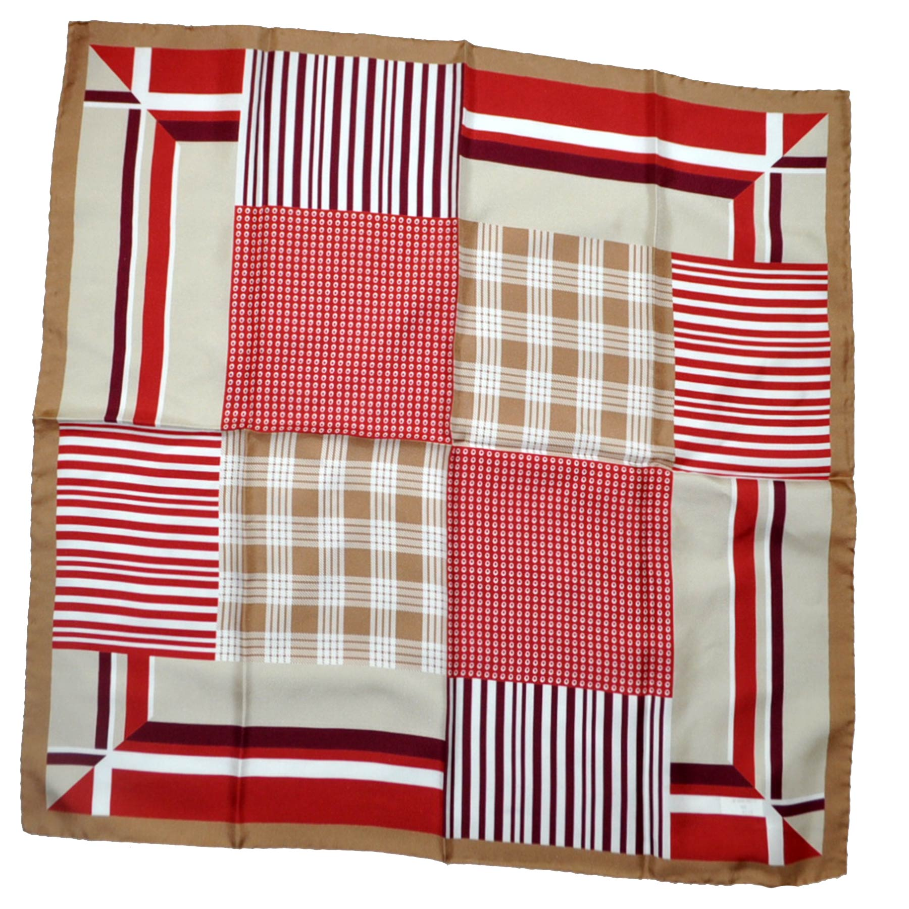 Patchwork Twill Silk Square Scarf SALE