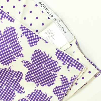Agnona Scarf White Purple