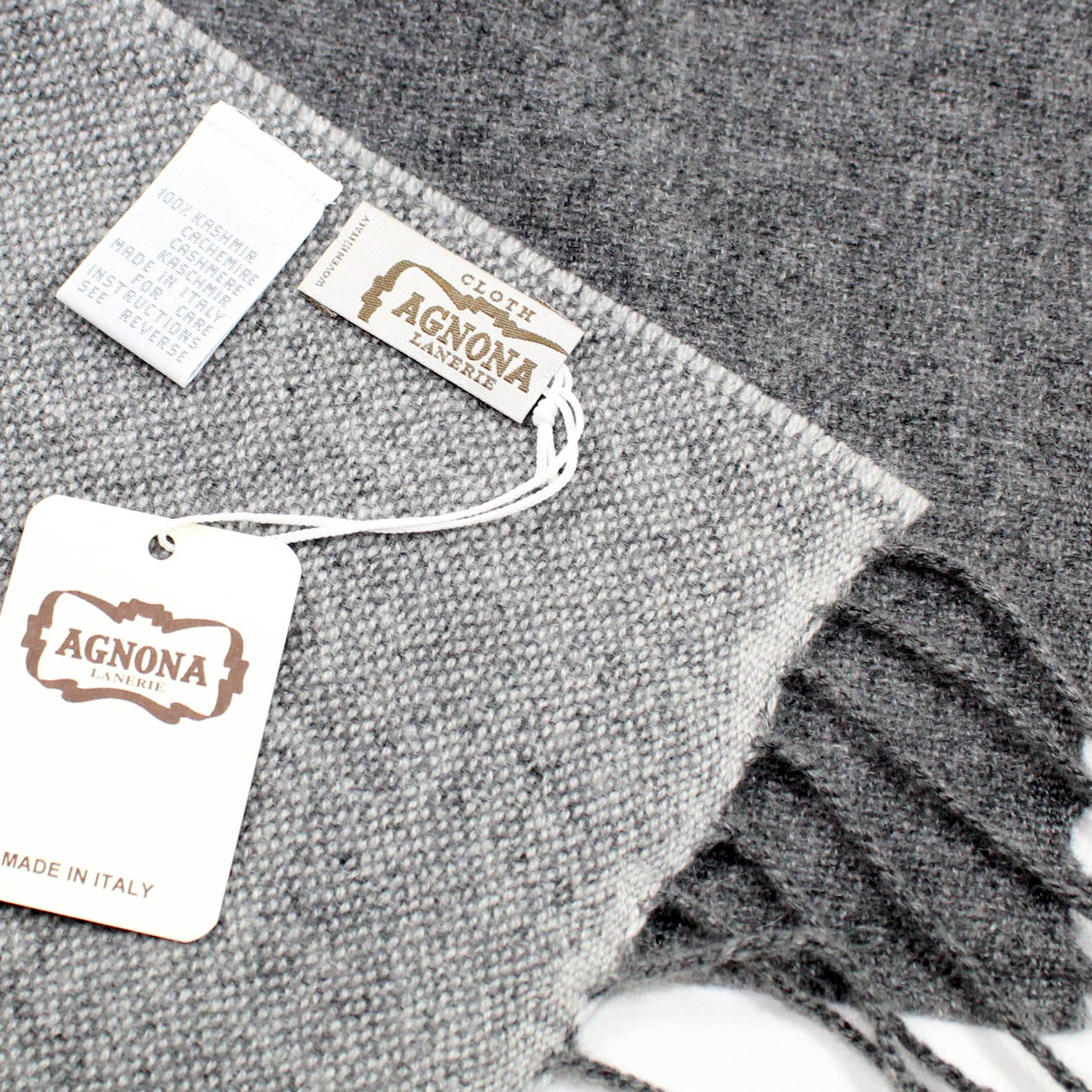 new arrival 7f644 83eef Agnona Cashmere Scarf Shades Of Gray Shawl - FINAL SALE