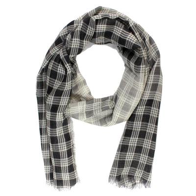 Agnona Scarf Dark Blue White