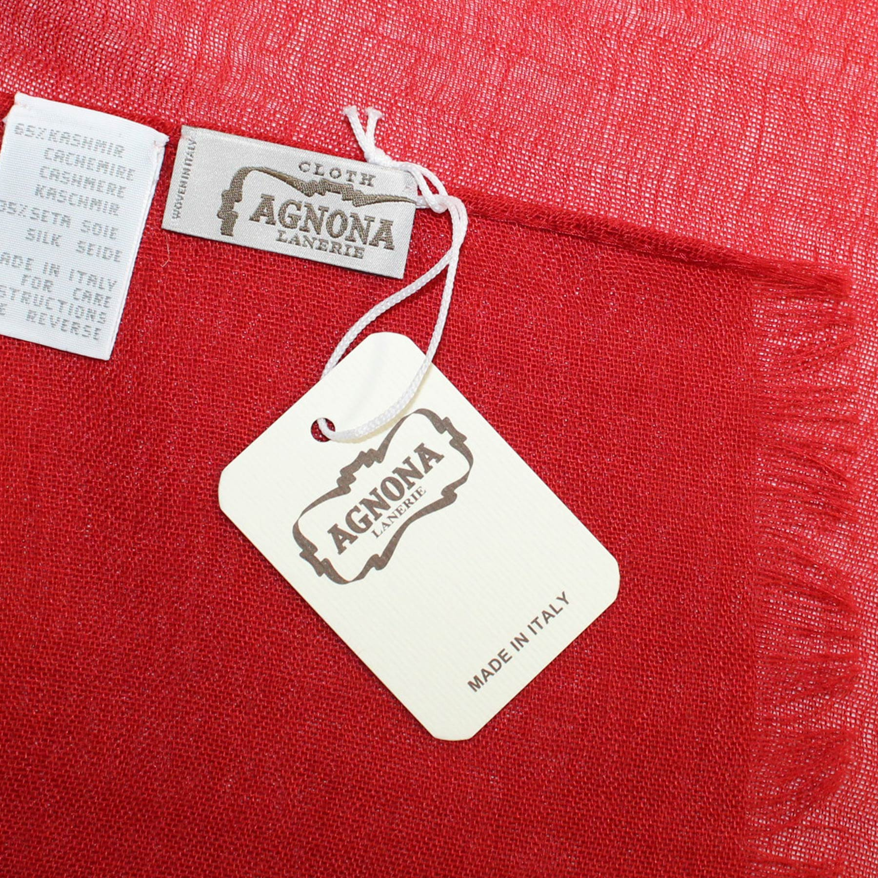 Agnona Scarf Fired Red