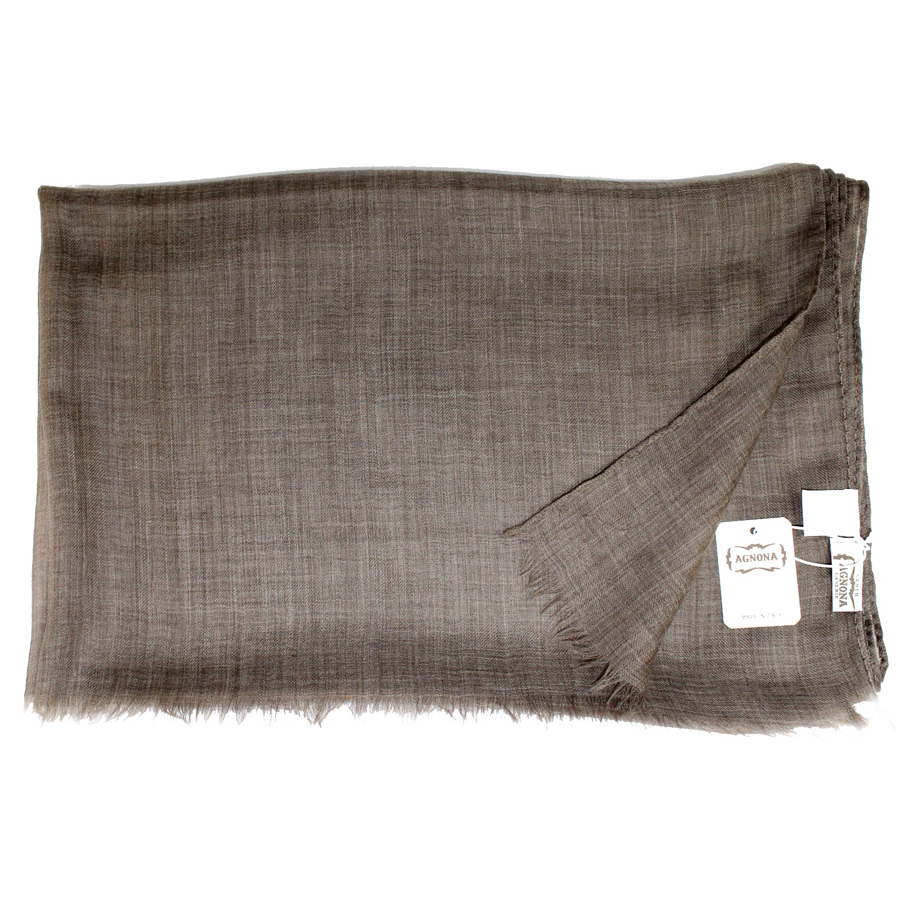 New Agnona Scarf Charcoal Brown