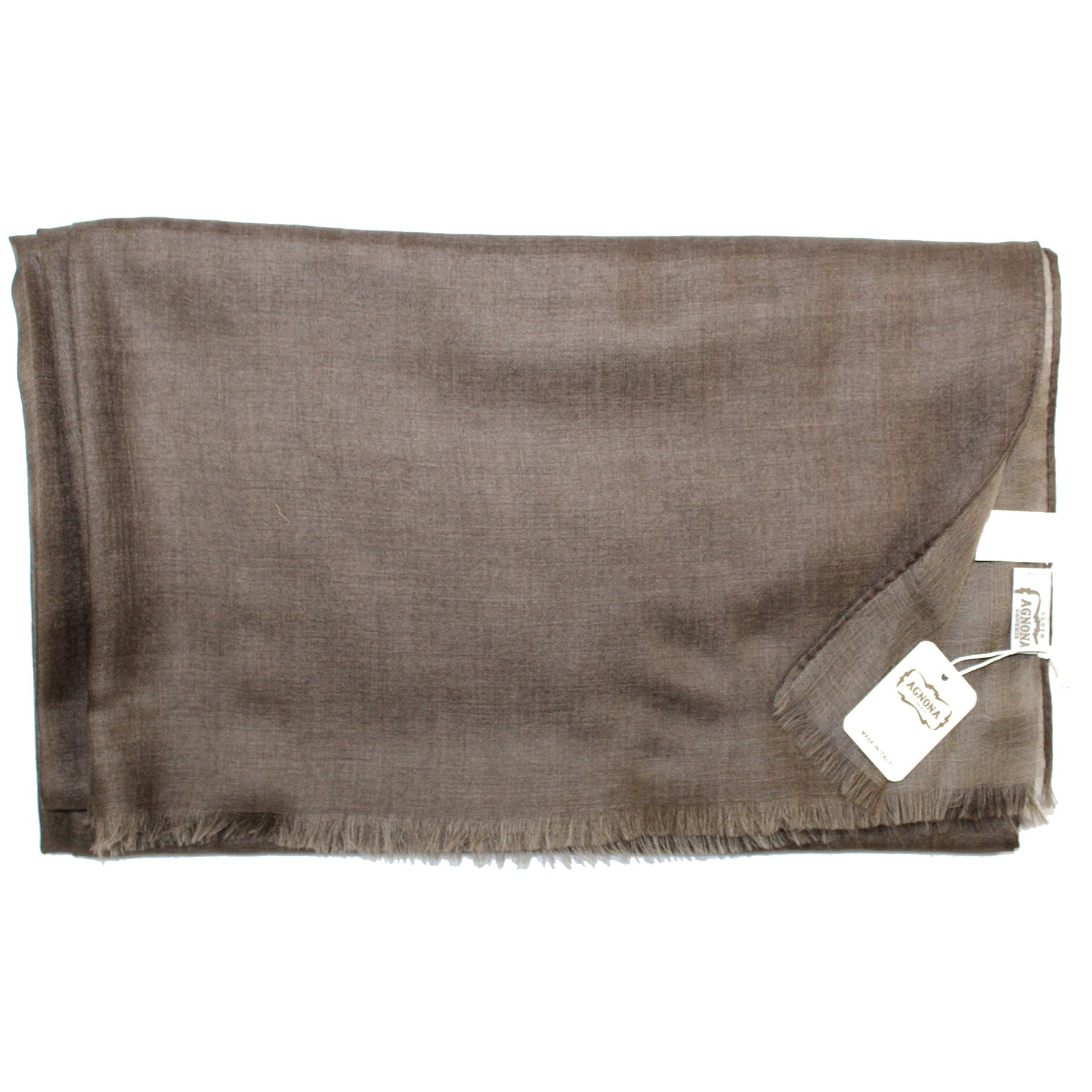 Agnona Scarf Brown Solid