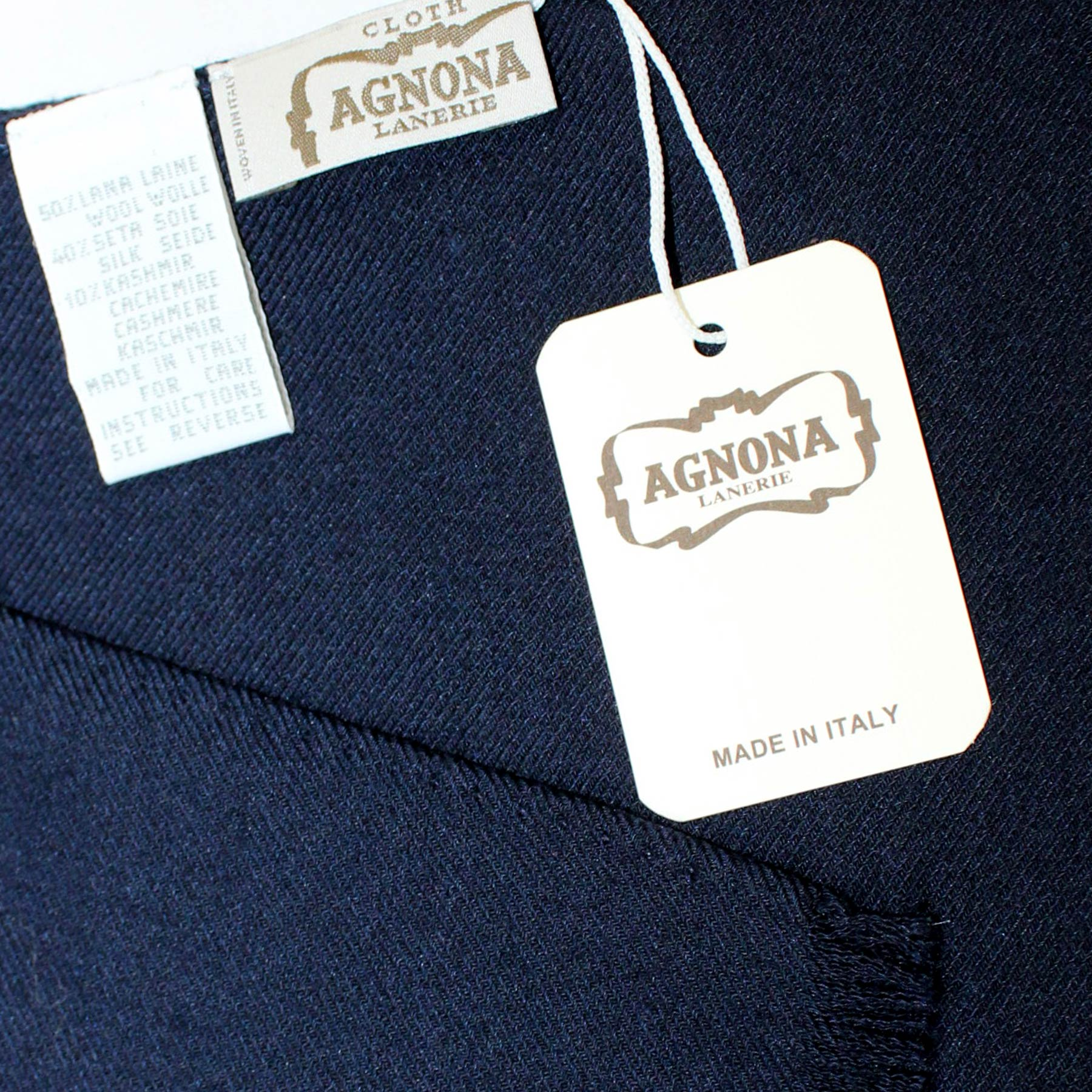 Wool Scarf Navy