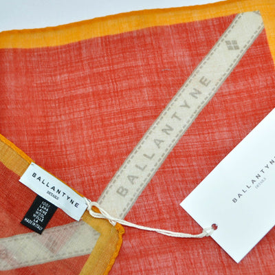 Ballantyne Wool Scarf Orange Stripes Argyle Square