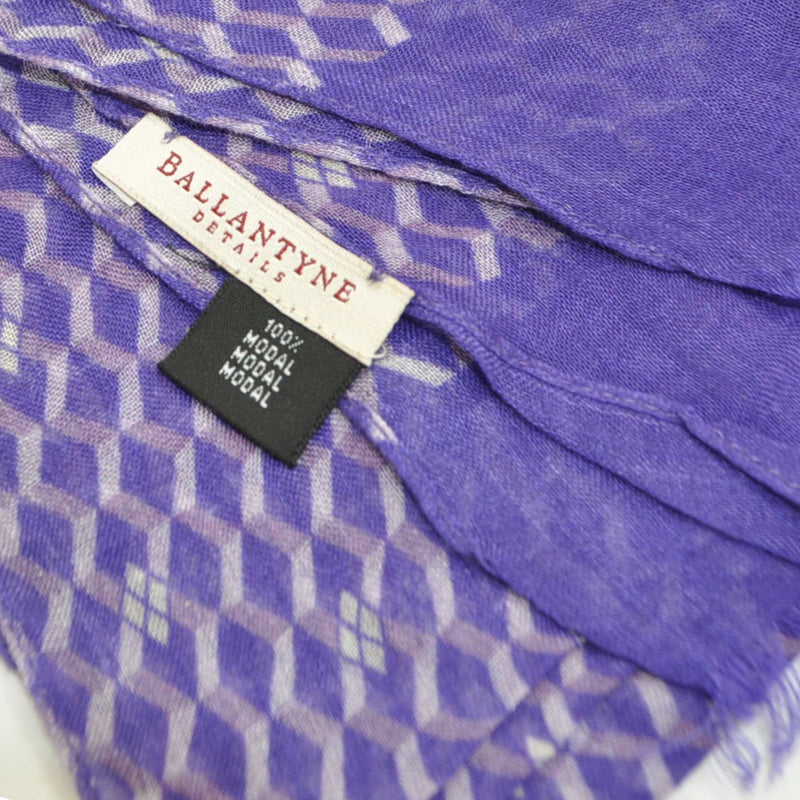 Ballantyne Scarf Purple Lilac Chevron Diamonds Shawl FINAL SALE