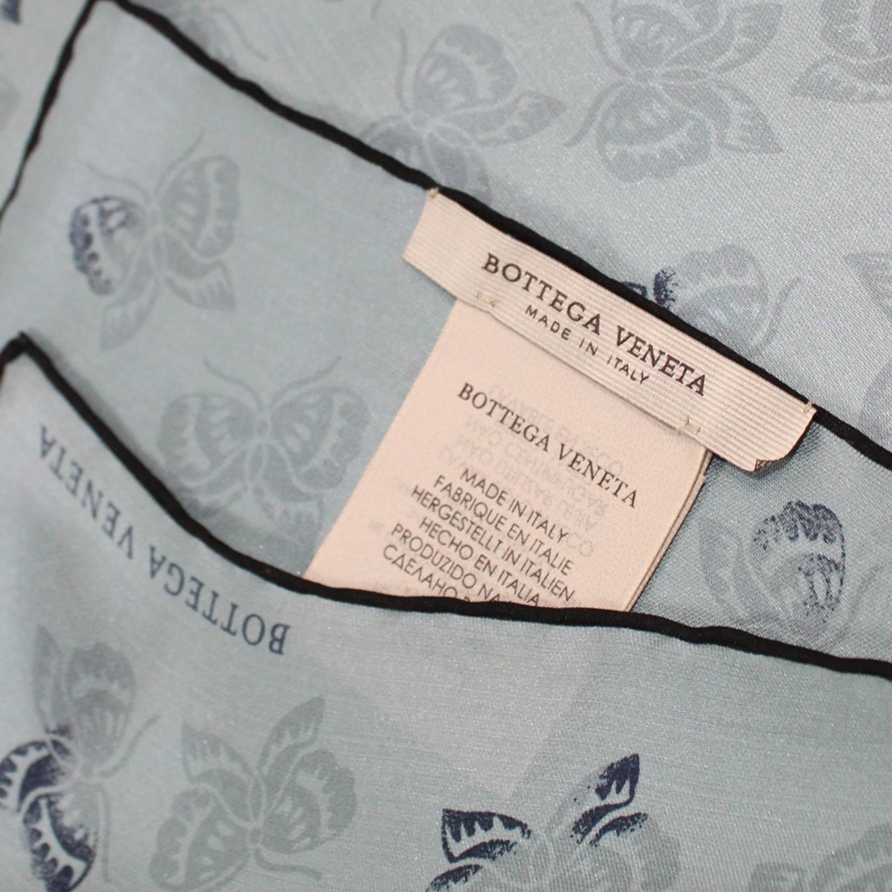 Bottega Veneta Scarf Gray Butterfly Design