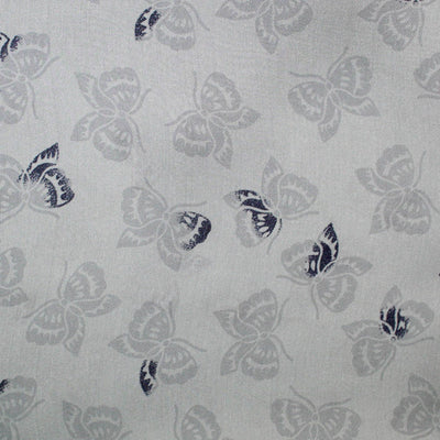 Bottega Veneta Scarf Gray Butterfly Design - Large Chiffon Silk Square Scarf