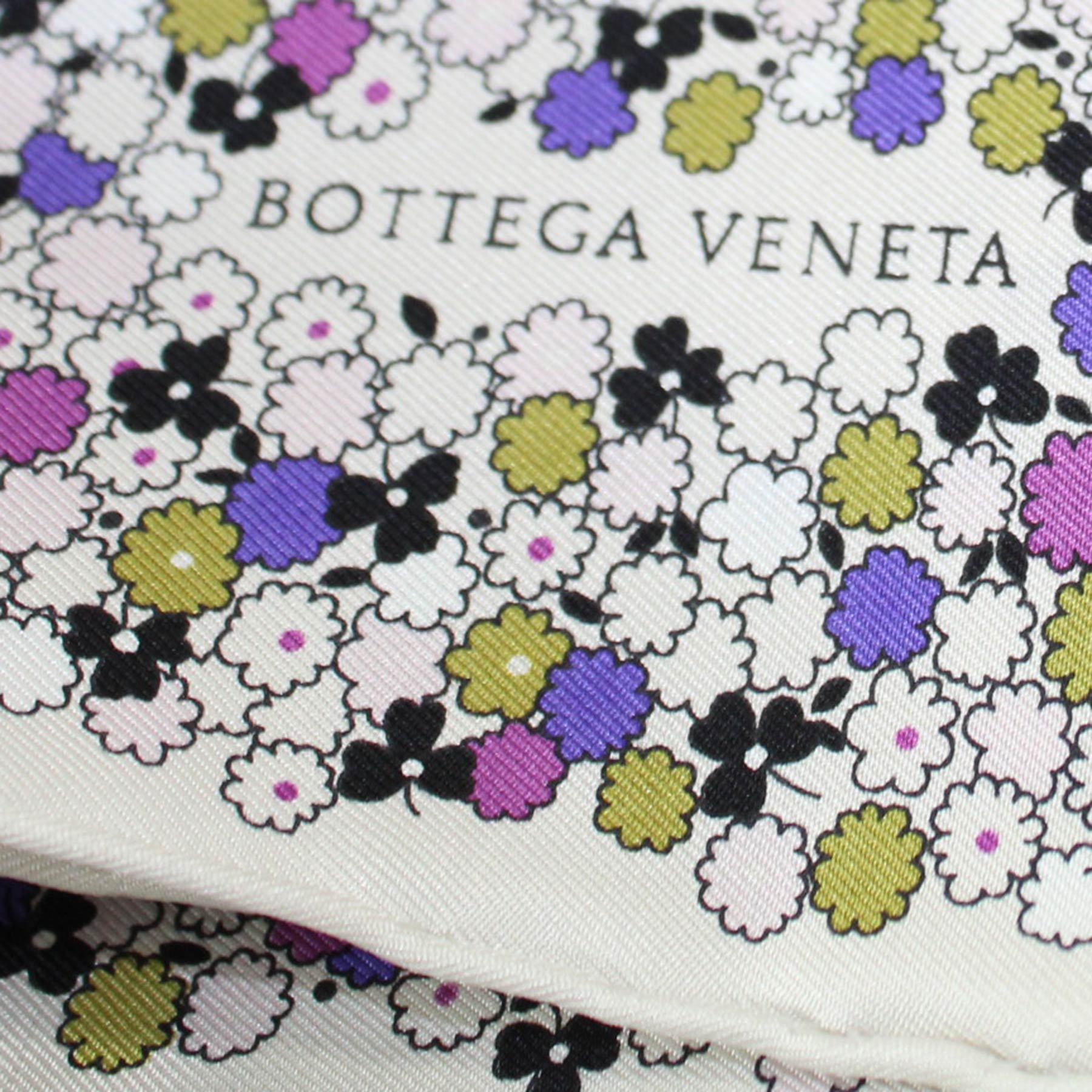Bottega Veneta Scarf Flowers  Twill Silk Square Scarf