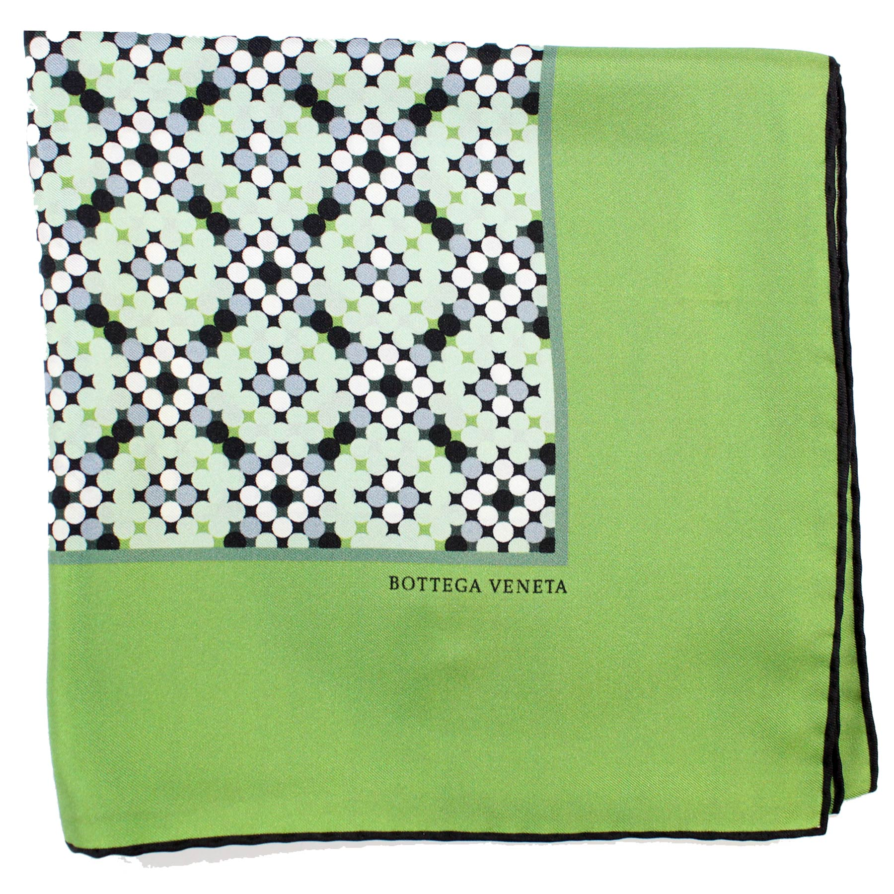 Bottega Veneta Scarf Green Geometric
