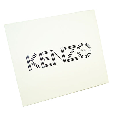 Kenzo Scarf Black Design - Extra Large Square Wool Wrap