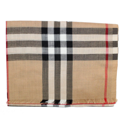 Burberry Scarf Camel Giant Check Gauze