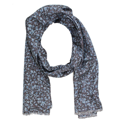 Dark Blue Gray Black Scarf