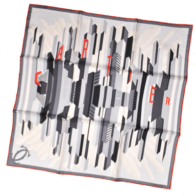 Twill Silk Square Foulard Cartier Paris