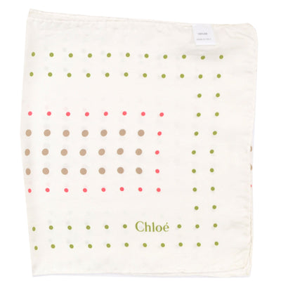 Chloé Scarf White Polka Dots - Silk Shawl - REDUCED - FINAL SALE