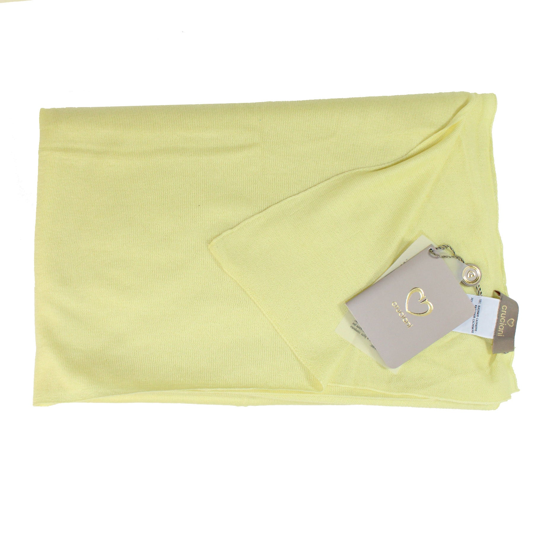 Cruciani Cashmere Silk Scarf Yellow New