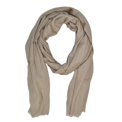 Davidoff Cashmere Silk Scarf Solid Taupe-Cream - FINAL SALE