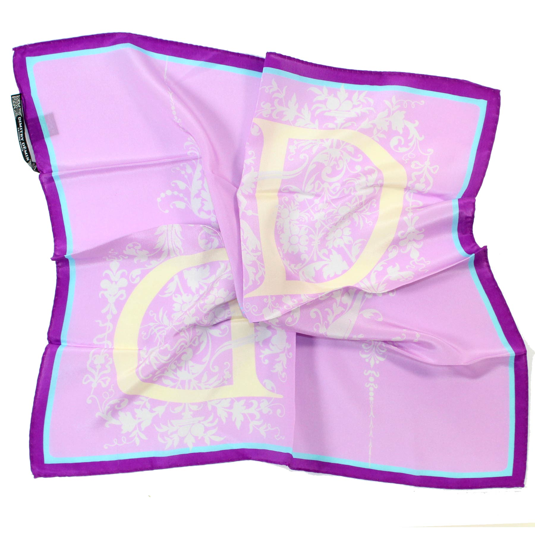Dimitry Demin Small Silk Scarf Lilac