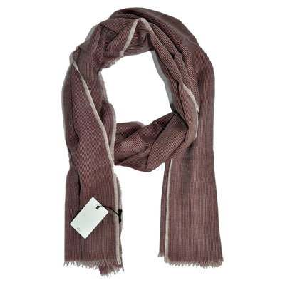 Dior Scarf Maroon Gray Design Wool Shawl SALE