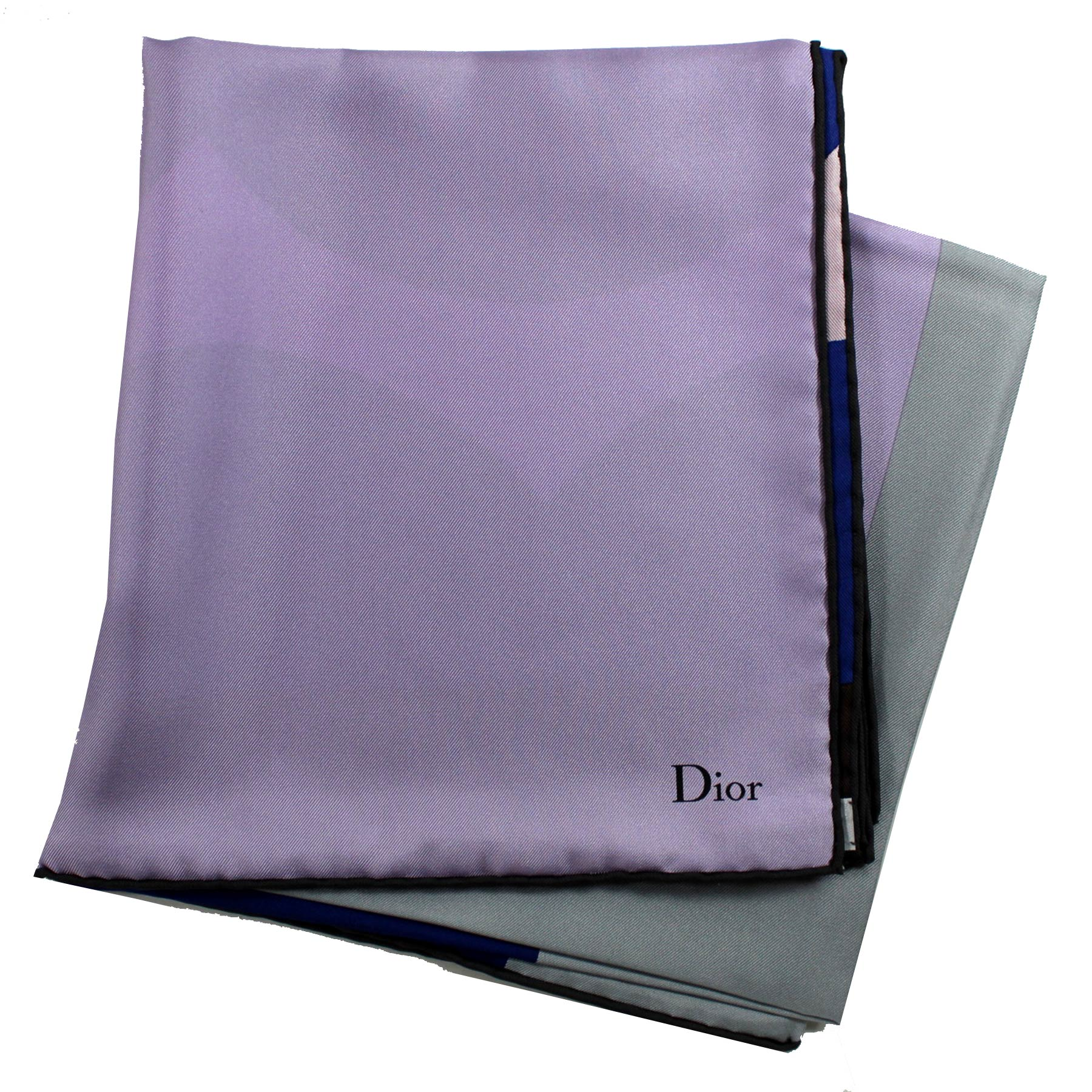 Christian Dior Lilac - Large Square Twill Silk Scarf New